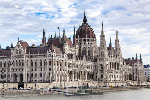 Staande foto Boedapest Parlament in Budapest, Ungarn