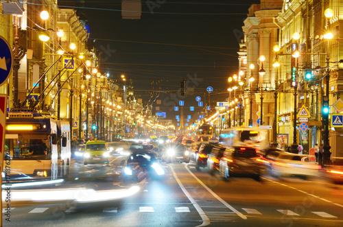 Papiers peints Autoroute nuit Electric city lights at night.