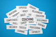 COACHING Paper Clippings Tag Cloud