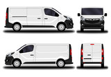 realistic cargo van. front view; side view; back view. - 171889833