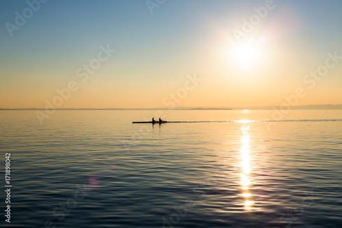 Foto op Plexiglas Zee zonsondergang tramonto del lago del garda
