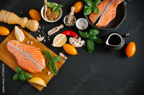 Foto op Canvas Sushi bar food fish