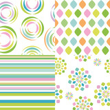 set of abstract vectorial seamless patterns