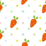 vector seamless children`s pattern with carrots