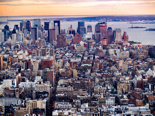 Lower Manhattan From the Empire State Building плакат