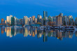 Vancouver BC Canada Waterfonrt Skyline at Blue Hour