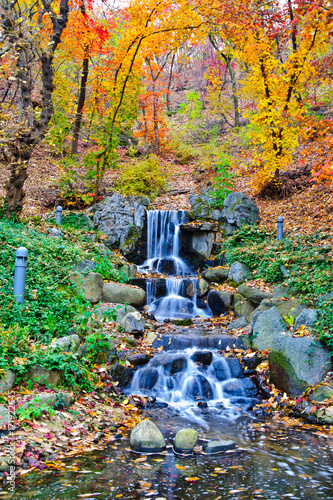 Fotobehang Seoel SEOUL, SOUTH KOREA - Beautiful namsan mountain landscape with autumn leaves.
