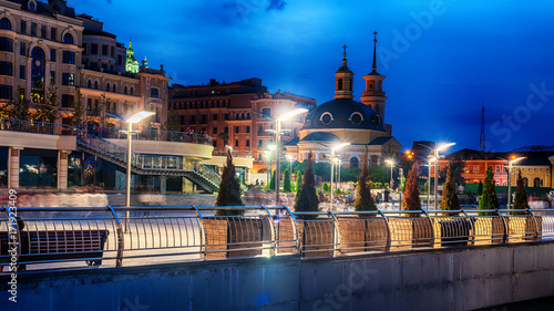 Deurstickers Kiev Kiev or Kiyv, Ukraine: night view of the city center in the summer