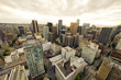 Vancouver, panoramic view of downtown.