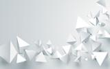 Abstrakcjonistyczni biali 3d ostrosłupy chaotyczny tło. Ilustracji wektorowych
