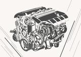 vector engine illustration