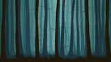 Horizontal illustration of misty coniferous forest. - 171940663