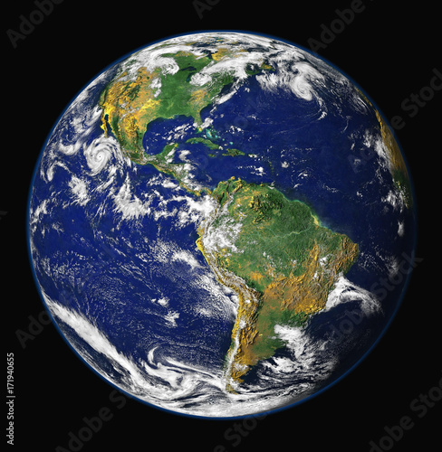 Aluminium Nasa planet earth view
