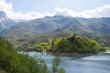 Lago di Vagli Sotto - Borgo vagli sopra - Careggine la città sommersa dalle acque - Garfagnana, Lucca - Italia - 171942450