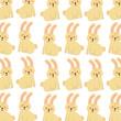 cute forest rabbit animal seamless pattern image vector illustration - 171944808