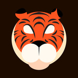 Icon of a tiger, vector