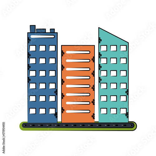 Obraz na płótnie city buildings icon image vector illustration design