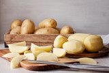 Freshly peeled potato, ready for cooking. Ingredient for the recipe - 171956803