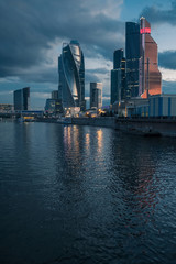 Moscow at sunset