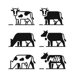 Dairy cow symbols - 171963822