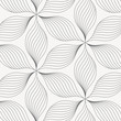 linear vector pattern, repeating abstract leaves, gray line of leaf or flower, floral. graphic clean design for fabric, event, wallpaper etc. pattern is on swatches panel.