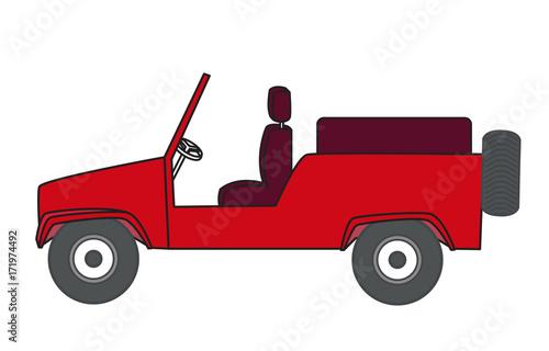 Open Jeep Vector