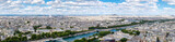 High resolution panoramic view of central Paris