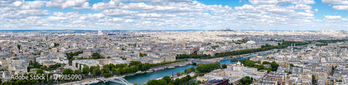 Fridge magnet High resolution panoramic view of central Paris