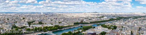 Foto op Aluminium Panoramafoto s High resolution panoramic view of central Paris