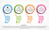 Abstract infographic with light bulb. Infographics for business presentations or information banner. - 171987250