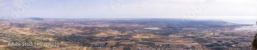 Foto op Plexiglas Panoramafoto s Sicily Flat Landscpae Panorama