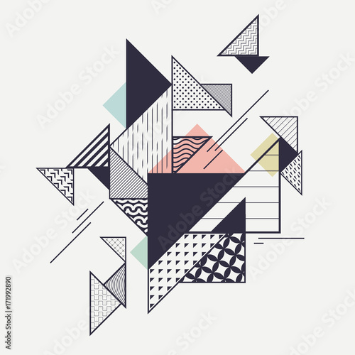 Abstract modern geometric composition