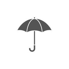 Umbrella silhouette, icon