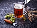 Mug of beer, hops and malt - 172007805