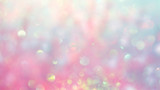 Fototapety Beautiful abstract background, bokeh light glistening on pink gradient color shades, blurred and magical, perfect as backdrop or wallpaper, it gives a dreamy atmosphere to your design..