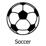Soccer ball icon, simple black style - 172013239