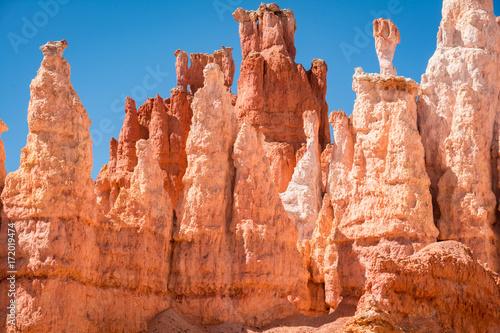 Poster Baksteen Bryce Canyon National Park, Utah Red Rock Pinnacles Hoodoos Trail