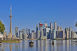Toronto's skyline over Lake Ontario