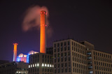 District heating plant at night - 172028828