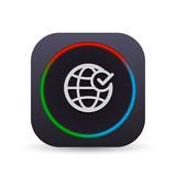 Dark MultiColor Web Button - 172033449