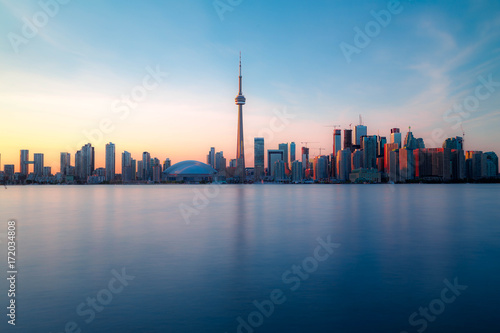 Deurstickers Shanghai Toronto downtown skyline with sunset
