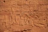 Ancient hieroglyphs in Karnak temple. Luxor, Egypt