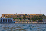 Sofitel Winter Palace, a 5-star hotel built by British explorers on the River Nile, surrounded by gardens and ancient temples. Agatha Christie wrote her novel Death On the Nile here. Luxor, Egypt. - 172037804