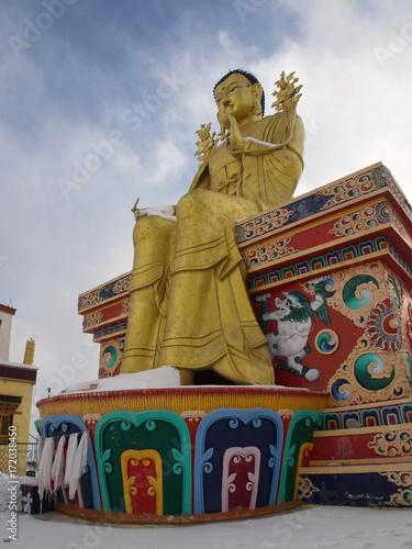 Foto op Canvas Boeddha Golden Buddha Sculpture in Leh, Ladahk, India