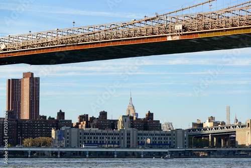 Foto op Plexiglas Brooklyn Bridge Manhatten unter der Brooklyn Bridge