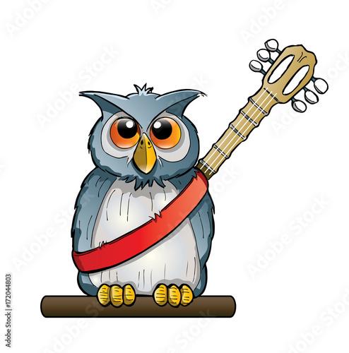 Foto op Plexiglas Uilen cartoon owl