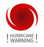 Graphic banner of hurricane warning - 172050457