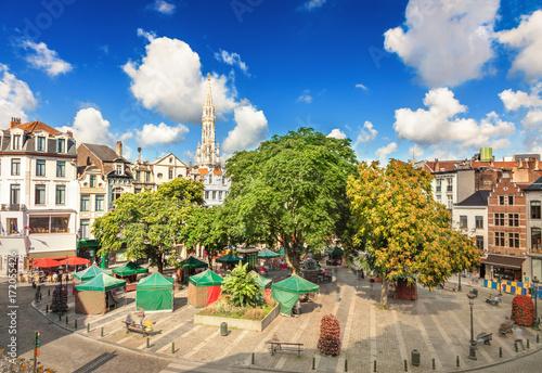 Foto op Canvas Brussel Place de l'Agora in Brussels