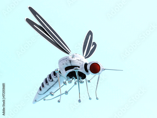 3D rendering of a robotic mosquito nr 2. - 172058681