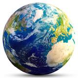 Planet Earth - Atlantic 3d rendering